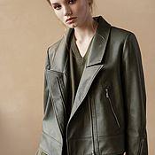 handmade. Livemaster - original item Women`s leather jacket made of ECO-leather Forever. Handmade.