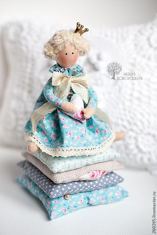 Куклы Тильды ручной работы. Ярмарка Мастеров - ручная работа. Купить Принцесса на горошине. Handmade. Голубой, принцесса, винтаж