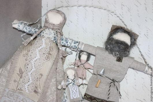 """Народные куклы ручной работы. Ярмарка Мастеров - ручная работа. Купить """"Неразлучники"""" Свадебная кукла-оберег. Handmade. Серый"""