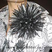 Украшения ручной работы. Ярмарка Мастеров - ручная работа Цветок-брошь из ткани: Астра. Handmade.