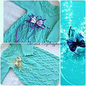 Работы для детей, handmade. Livemaster - original item dress Blue lagoon. Handmade.