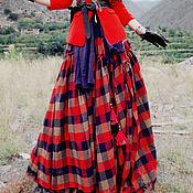 Одежда ручной работы. Ярмарка Мастеров - ручная работа Шикарная длинная юбка в клетку. Handmade.