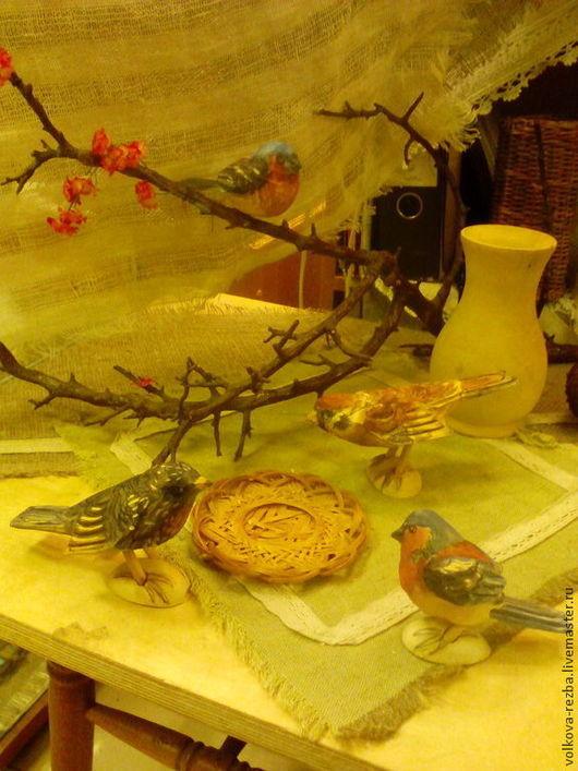 Экстерьер и дача ручной работы. Ярмарка Мастеров - ручная работа. Купить Птицы из дерева для оформления  интерьера илиучастка загородного дома. Handmade.