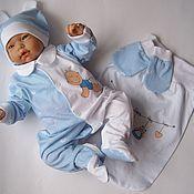 """Комплекты одежды ручной работы. Ярмарка Мастеров - ручная работа Комплект для малыша """"Полосочки"""". Handmade."""
