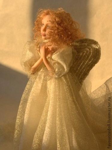Коллекционные куклы ручной работы. Ярмарка Мастеров - ручная работа. Купить Рождественский ангел(2). Handmade. Золотой, авторская кукла