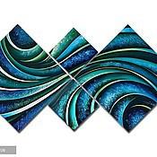 Картины и панно ручной работы. Ярмарка Мастеров - ручная работа Зеленая абстракция. Handmade.