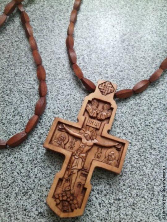 Купить Крестик нательный деревянный 00100Б - крест, нательный крест, крестик из дерева, крестик нательный