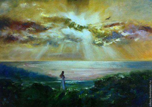 Пейзаж ручной работы. Ярмарка Мастеров - ручная работа. Купить Картина маслом - Жена Одиссея. Handmade. Картина море