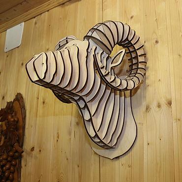 Для дома и интерьера ручной работы. Ярмарка Мастеров - ручная работа Голова Горного барана. Handmade.
