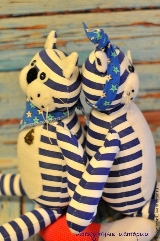 Игрушки животные, ручной работы. Ярмарка Мастеров - ручная работа. Купить Коты Моряки. Handmade. Тёмно-синий, коты и кошки