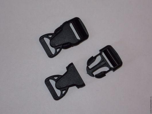 Шитье ручной работы. Ярмарка Мастеров - ручная работа. Купить Фастекс 25 мм, чёрный, пластик. Handmade. Черный