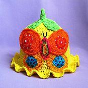 """Работы для детей, ручной работы. Ярмарка Мастеров - ручная работа Панамка """"Яркая бабочка"""". Handmade."""