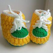 Пинетки ручной работы. Ярмарка Мастеров - ручная работа Вязаные пинетки ботиночки. Handmade.