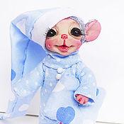 Куклы и игрушки ручной работы. Ярмарка Мастеров - ручная работа Мышонок - сплюшка в пижамке.. Handmade.