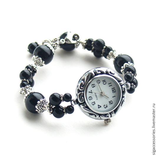 """Часы ручной работы. Ярмарка Мастеров - ручная работа. Купить """"Классика на все времена"""" - часы-браслет. Handmade. Черный, классическое украшение"""