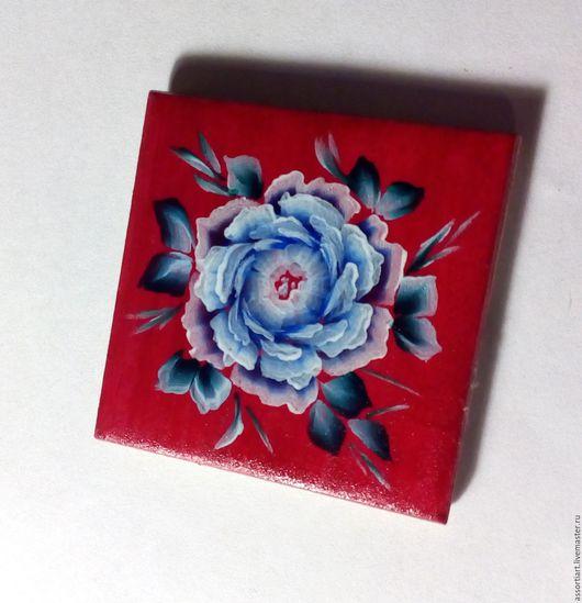 Магниты ручной работы. Ярмарка Мастеров - ручная работа. Купить Магнит на холодильник роспись по дереву ручная работа. Handmade.