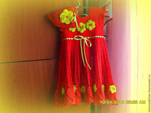 Одежда для девочек, ручной работы. Ярмарка Мастеров - ручная работа. Купить платье для девочки крючком. Handmade. Платье для девочки