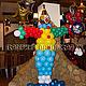 Праздничная атрибутика ручной работы. Веселый клоун из воздушных шаров. Екатерина Пановская (panovskaya). Ярмарка Мастеров. День рождения, шары