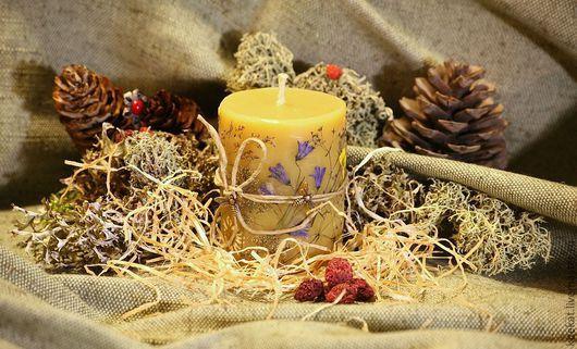 """Свечи ручной работы. Ярмарка Мастеров - ручная работа. Купить Свеча """"медовая поляна"""". Handmade. Желтый, подарок девушке, сувенир"""