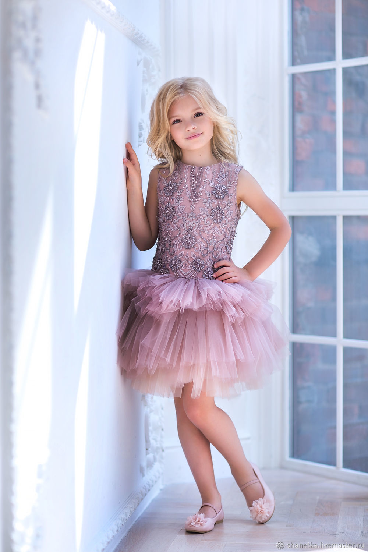 Одежда для девочек, ручной работы. Ярмарка Мастеров - ручная работа. Купить Платье фатиновое нарядное для девочки Charm flower. Handmade.