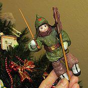 Куклы и игрушки ручной работы. Ярмарка Мастеров - ручная работа Данечка - ватная елочная игрушка. Handmade.