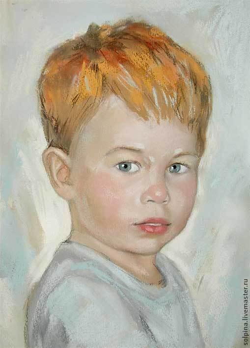 Персональные подарки ручной работы. Ярмарка Мастеров - ручная работа. Купить Портрет ребенка пастелью. Handmade. Портрет