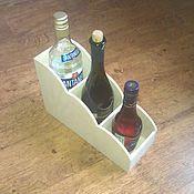Заготовки для декупажа и росписи ручной работы. Ярмарка Мастеров - ручная работа Мини-бар под 3 бутылки вина. Handmade.