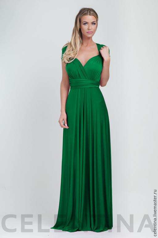 Зеленое платье трансформер