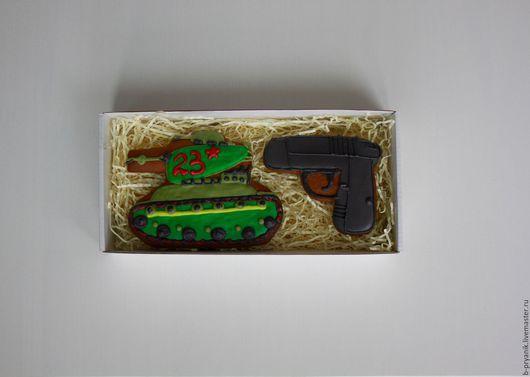 Кулинарные сувениры ручной работы. Ярмарка Мастеров - ручная работа. Купить Пряничный набор на 23 февраля для мужчины #5. Handmade.