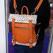 Сумки и аксессуары handmade. Livemaster - original item Backpack-leather bag 84. Handmade.