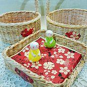 Для дома и интерьера ручной работы. Ярмарка Мастеров - ручная работа Набор пасхальных корзинок. Handmade.