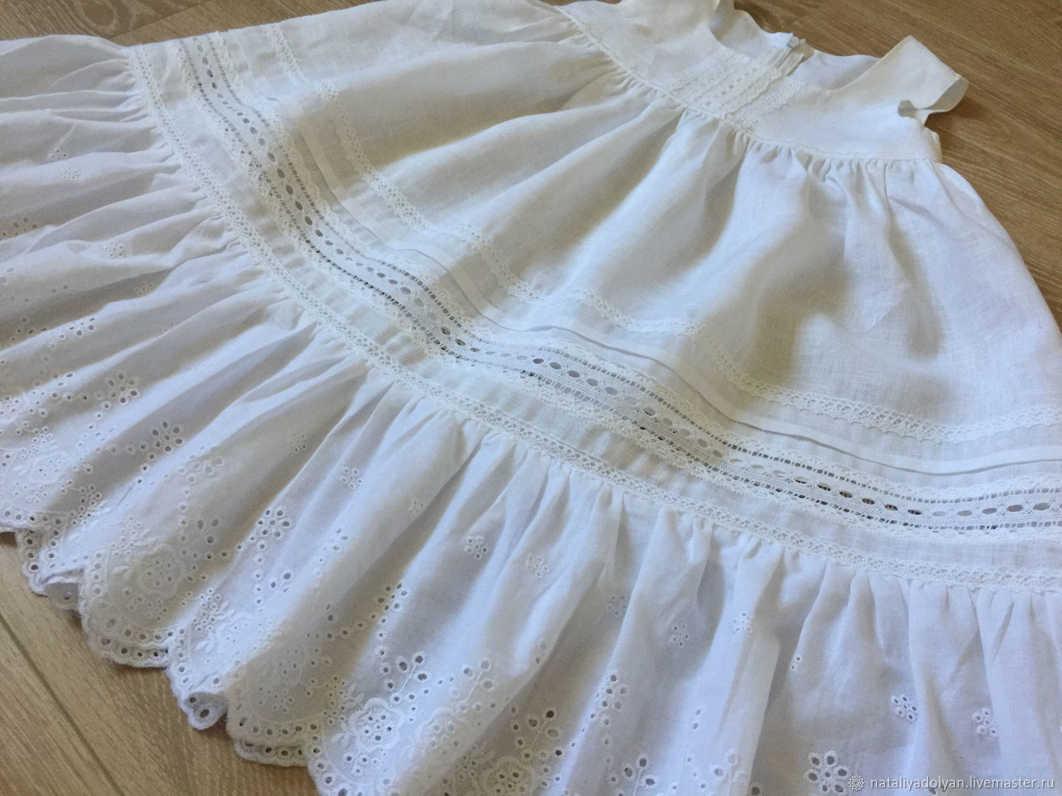 Linen sundress White tenderness In the presence of Growth 104/110, Dresses, Ivanovo,  Фото №1