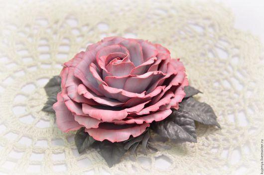 """Заколки ручной работы. Ярмарка Мастеров - ручная работа. Купить Заколка для волос """"Роза винтаж"""". Handmade. Коралловый, роза в волосы"""
