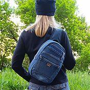 handmade. Livemaster - original item Denim rocket backpack. Handmade.