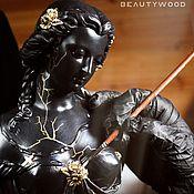 Для дома и интерьера handmade. Livemaster - original item Statue of Christian girl from gypsum. Handmade.