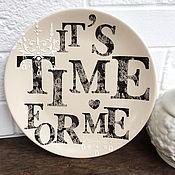 """Для дома и интерьера ручной работы. Ярмарка Мастеров - ручная работа Тарелка настенная """"Время для себя"""". Handmade."""
