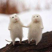 """Куклы и игрушки ручной работы. Ярмарка Мастеров - ручная работа """"Снежные мышки"""".. Handmade."""