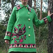 Одежда ручной работы. Ярмарка Мастеров - ручная работа Войлочное пальто «Птица Сирин». Handmade.