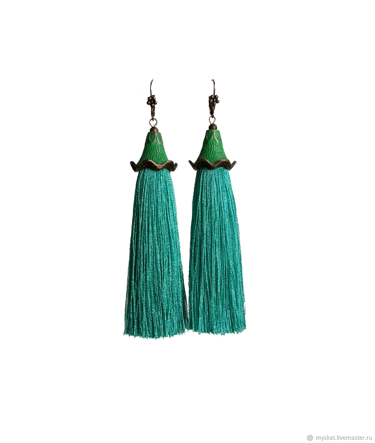 Earrings tassels bells, Tassel earrings, Moscow,  Фото №1