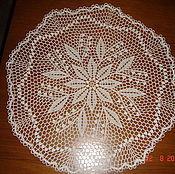 Для дома и интерьера ручной работы. Ярмарка Мастеров - ручная работа салфетка вязаная ажурная. Handmade.