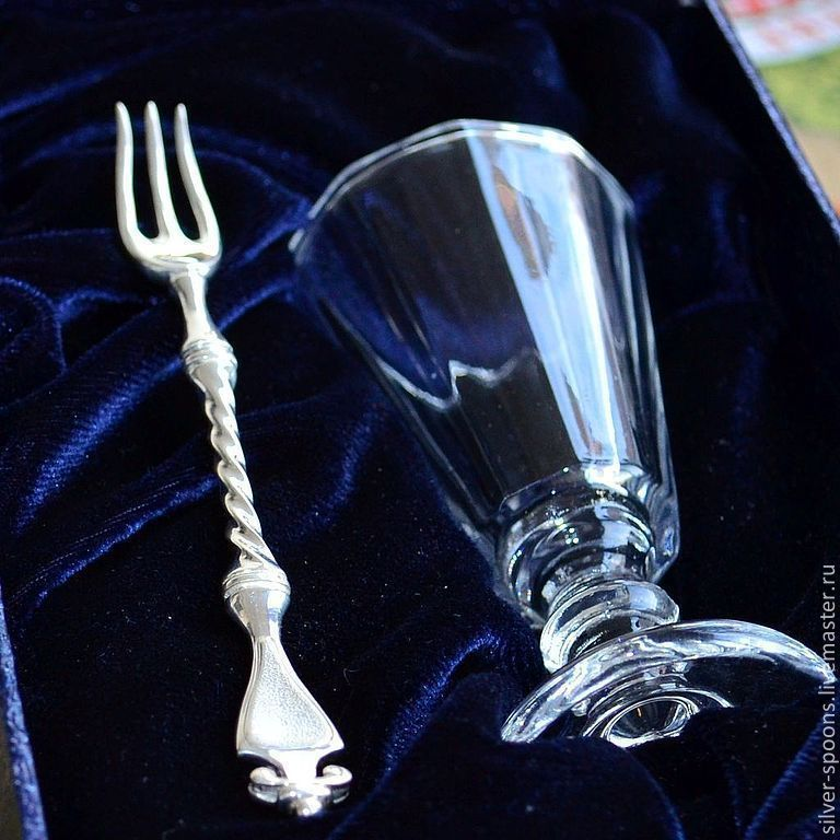Silver spoon Skoblinskogo. Silverware has always been considered a good gift for wedding or anniversary ...