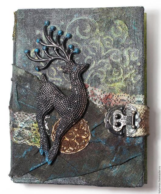 Блокноты ручной работы. Ярмарка Мастеров - ручная работа. Купить Блокнот-скетчбук «Путь Шамана». Handmade. Черный, блокнот для девушки