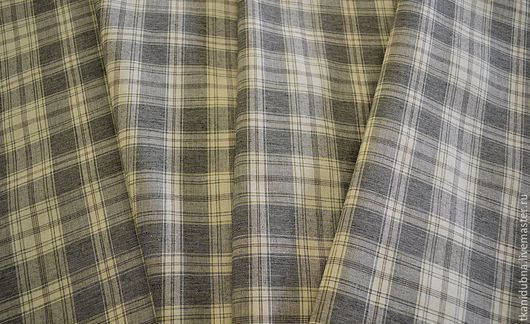 """Шитье ручной работы. Ярмарка Мастеров - ручная работа. Купить Ткань курточная """"Клеточка"""" отрез 1 метр. Handmade. Серый"""