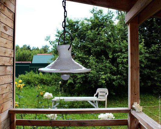 """Освещение ручной работы. Ярмарка Мастеров - ручная работа. Купить Лампа светильник керамический """"Инопланетянка"""". Handmade. Белый, светильник из глины"""