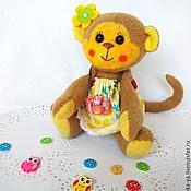 Куклы и игрушки ручной работы. Ярмарка Мастеров - ручная работа Обезьянка Вики.. Handmade.