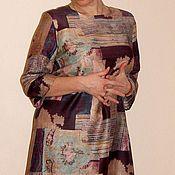 Одежда ручной работы. Ярмарка Мастеров - ручная работа Платье прямое шерстяное рукав тричетверти. Handmade.