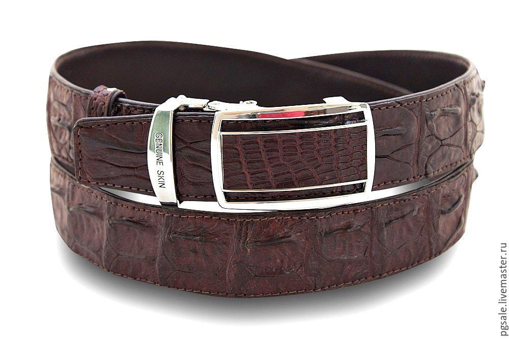 Кожаный ремень из крокодила мужской кожаный ремень gant