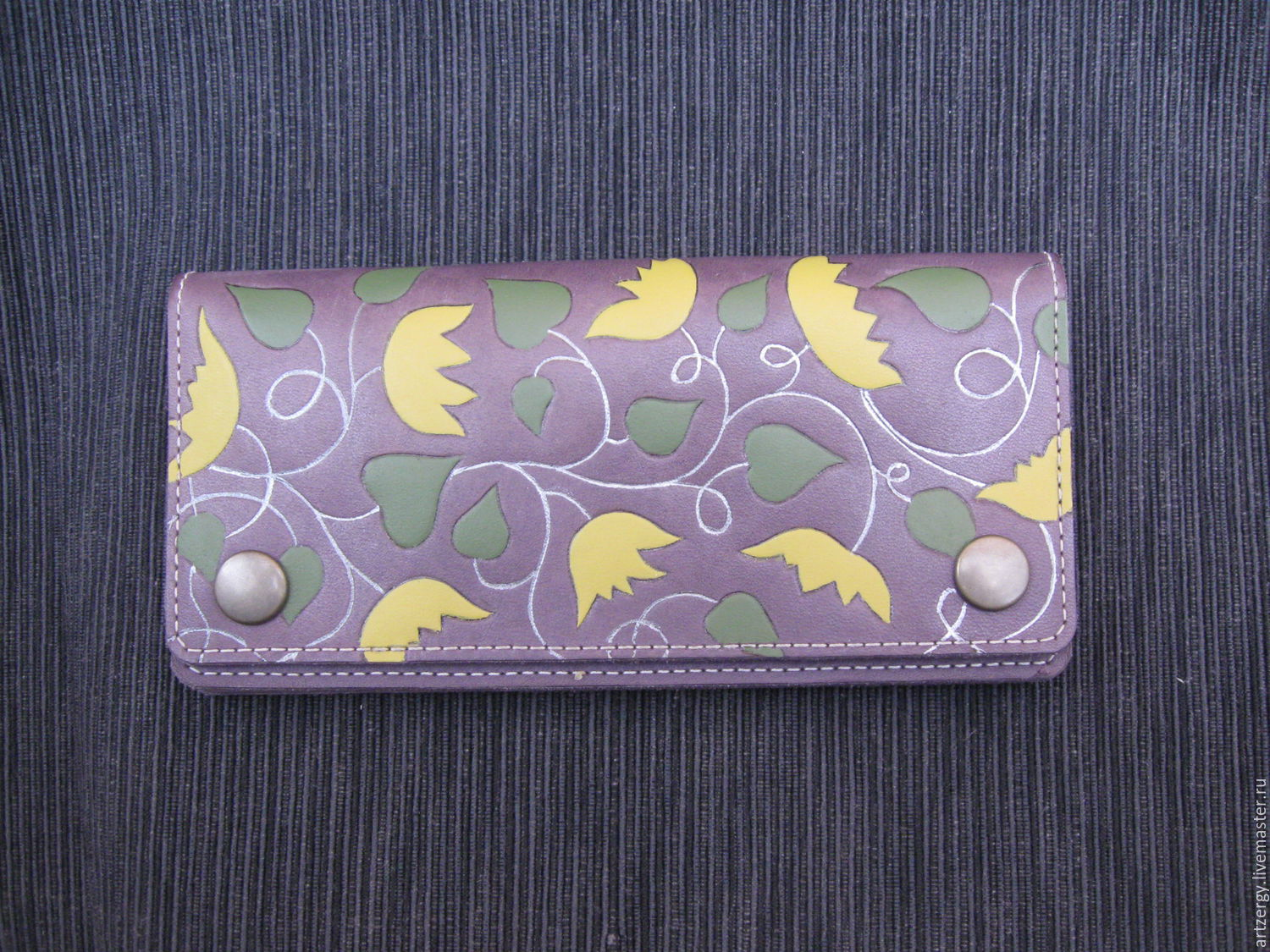 FLORAL leather purse, Wallets, Moscow,  Фото №1