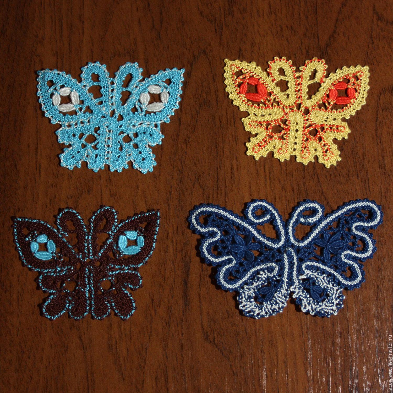 Бабочки кружево на коклюшках, Народные украшения, Москва,  Фото №1