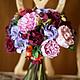Свадебные цветы ручной работы. Ярмарка Мастеров - ручная работа. Купить Букет невесты Осенний. Handmade. Букет, пионы, decoclay